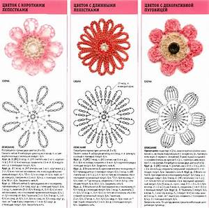 Three Flower Crochet Diagrams  U22c6 Crochet Kingdom