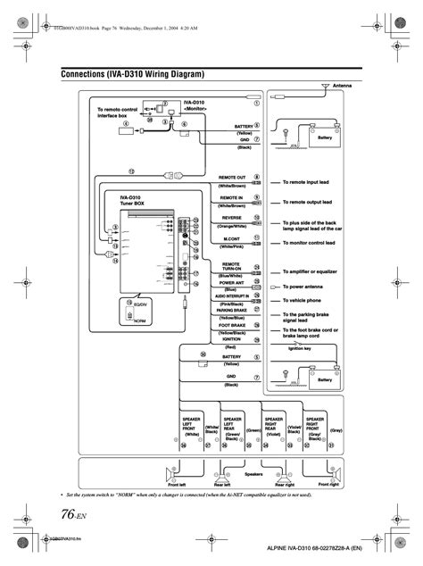 Connections Iva Wiring Diagram Alpine