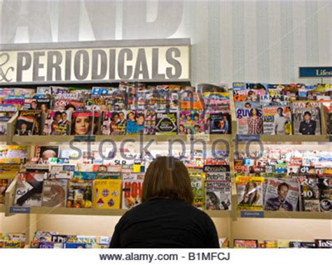 and noble montgomeryville barnes and noble magazine and periodical rack stock photo Barnes