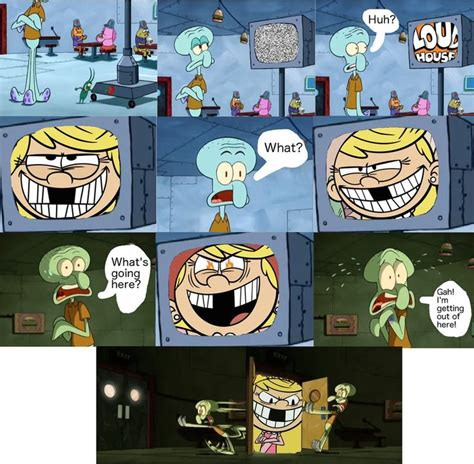 Nickelodeon Memes - squidward is too scared of lola loud by funnytime77 deviantart com on deviantart cartoons