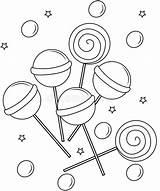 Lollipop Coloring Lollipops Pages Sheets Printable Clip Clipart Useful Dreamstime Illustration sketch template