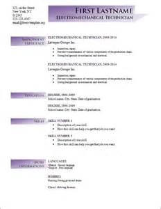free resume templates word 2014 free cv templates 191 to 197 free cv template dot org