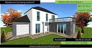 Maison En L Moderne : plan et photo de maison avec etage ossature bois par architecte constructeur www ~ Melissatoandfro.com Idées de Décoration