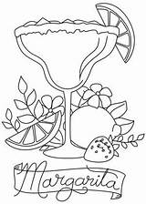 Coloring Margarita Embroidery Hour Patterns Awesome Drawings Unique Urban Threads Urbanthreads Needle Cocktail Drawing Machine sketch template