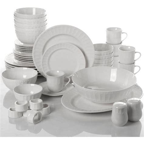 Dinnerware Set 46 Piece Plates Dishes Bowls Kitchen China