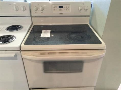 kenmore bisque smooth top range stove oven   sale  tacoma washington classified