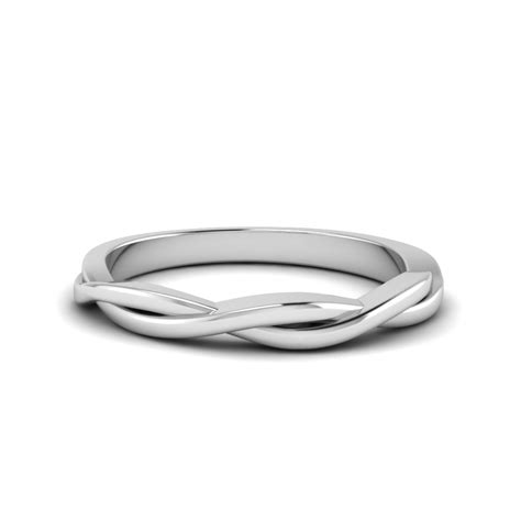 Twisted Rope Wedding Band In 18k Rose Gold  Fascinating