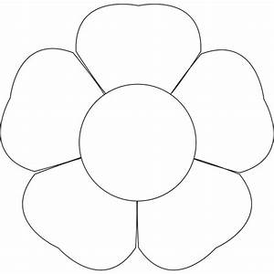 flower petal template printable clipartsco With free flower templates to print