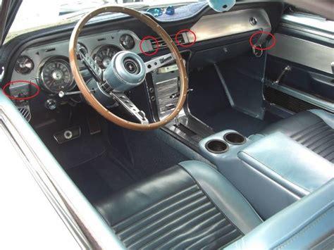 mustang deluxe interior ac vent aluminum inserts  dash