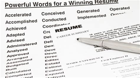 keywords make a powerful impact on your resume resume