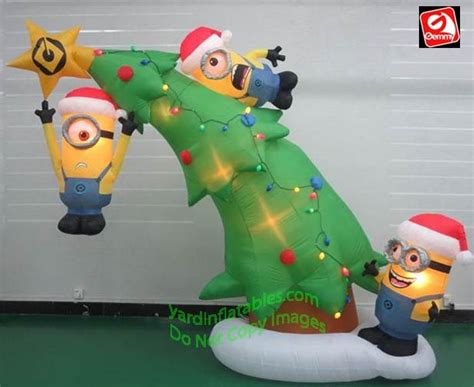 gemmy airblown inflatable  minions decorating