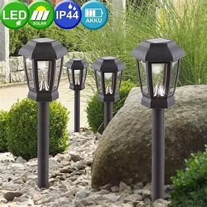 Led Lampen Garten : 4er set led solar lampen garten weg beleuchtung terrasse stecklampen leuchten ebay ~ A.2002-acura-tl-radio.info Haus und Dekorationen