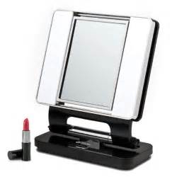 natural 5x 1x lighted makeup mirror black