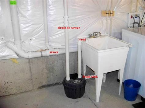 installing a utility sink in basement sewer do you really need a pipe out for potential