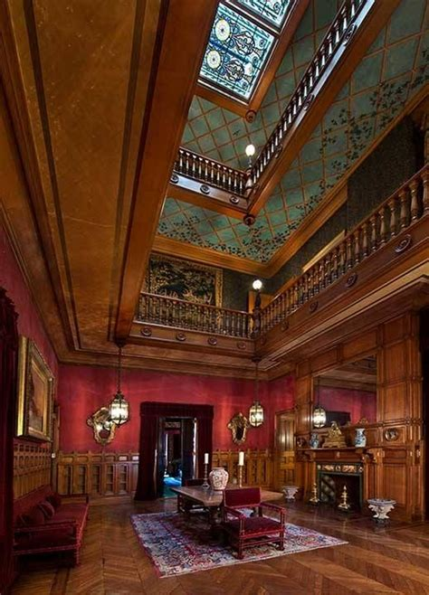 great hall  chateau sur mer  created  architect