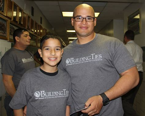 students dads bond annual sisd father son conference