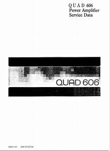 Quad 606 Power Amplifier Service Manual