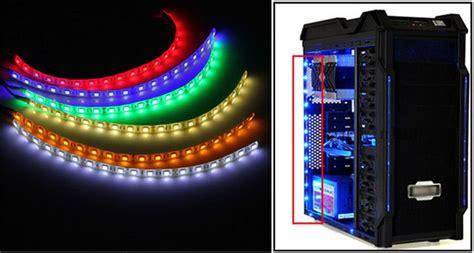 computer led light strips big promotion 60cm 18 led 5050 smd pc computer case