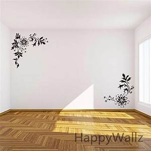 aliexpresscom buy flowers wall sticker corner flower With beautiful flower decals for walls
