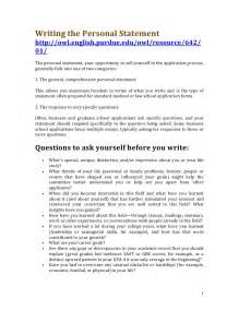 personal statement for resume exles resume personal statement sle resume format