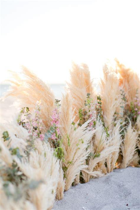 beautiful beach wedding ideas inspired  pampas grass