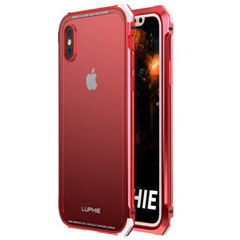 tempered alloy iphone luphie metal bumper 9h clear transparent tempered glass