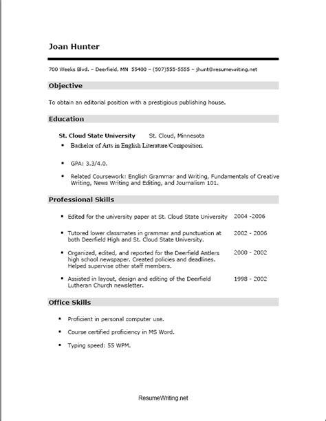 skills resume sles