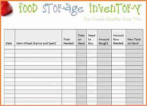 3 Food Inventory Spreadsheet Template Excel