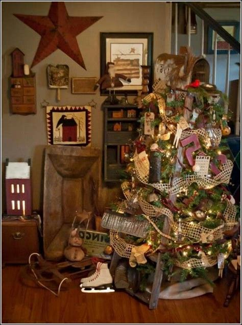 primitive christmas decorating ideas primitive country christmas tree decorations is one of the best design selection that you must