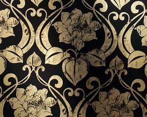 Tapete Barock Schwarz : tapete chroma ornament col 50 barock tapete in den farben gold grundton schwarz ~ Yasmunasinghe.com Haus und Dekorationen