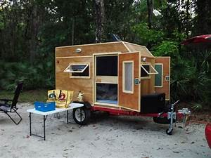 camping trailer small woody camper frugal way camping With tiny camping trailers