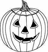 Coloring Pumpkin sketch template