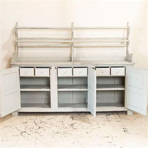antique white painted gustavian buffet cupboard  plate rack sweden