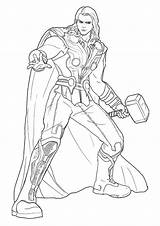 Thor Coloring Printable Colorare Assignment Parentune sketch template