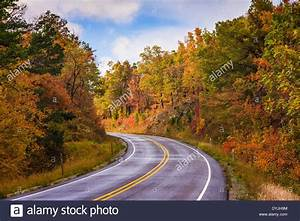 Autumn Color in Arkansas on scenic highway 7. This famous ...
