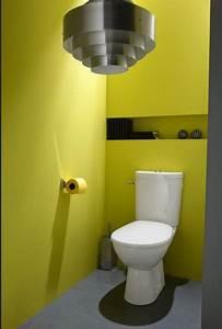 peinture wc idees couleur pour des wc top deco deco With couleur de peinture pour toilette 0 deco wc jaune