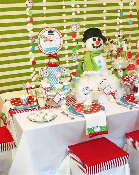 Snowman Table Decorations - ideas snowman