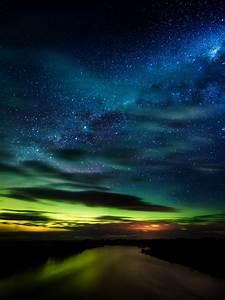 Aurora, Borealis, Wallpaper, 4k, Stars, Clouds, New, Zealand