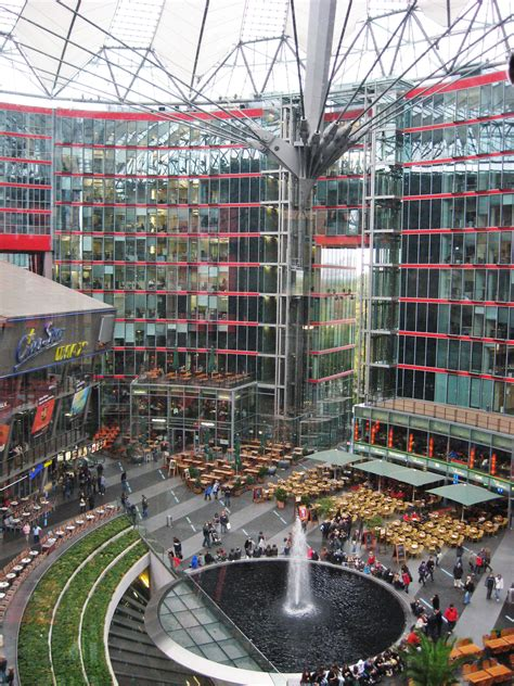 grand glass facades  berlins sony center paul