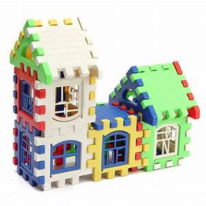 24pcs children puzzle plastic letter building blocks house With letter building blocks