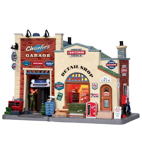 lemax christmas collection lemax collection porcelain lighted house s garage shop
