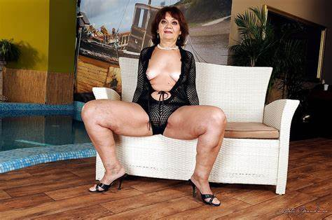 Ugly Spanish Bombshell Shows Her Goods Slender Fat Trash Grannies Wearing