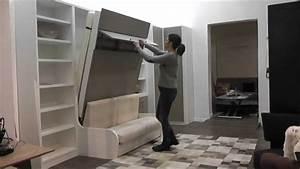Lit Dans Armoire : d monstration armoire lit escamotable ~ Premium-room.com Idées de Décoration