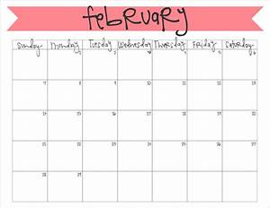 february 2016 calendar free printable printable With detailed calendar template