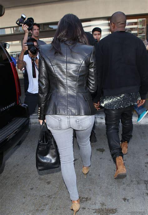 kim kardashian  jeans  lax airport october