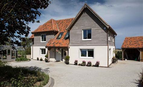 Ideas For New Builds by A Uk Oak Frame Passivhaus Self Build Homebuilding