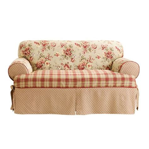 sure fit scroll t cushion sofa slipcover sure fit t cushion sofa slipcover multi home