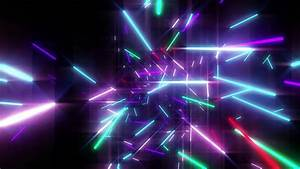 Stock video of animation of colorful neon disco lasers ...