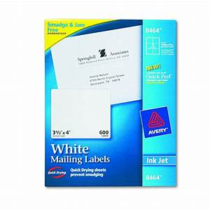 avery dennison easy peel white address label inkjet 1 With avery 3x4 labels
