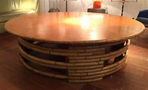 Grande Table Basse Ronde : grande table basse de audoux minet ~ Teatrodelosmanantiales.com Idées de Décoration